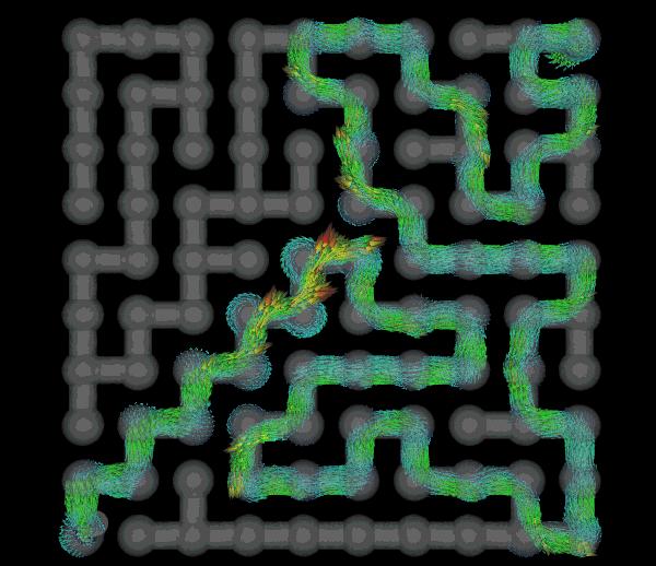 CFD maze simulation
