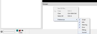 message window