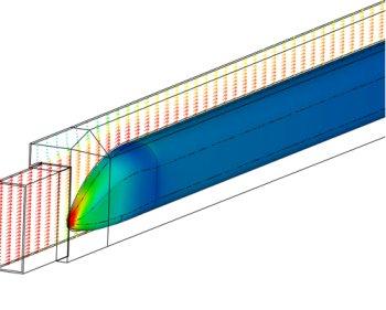 Centerline velocity vectors